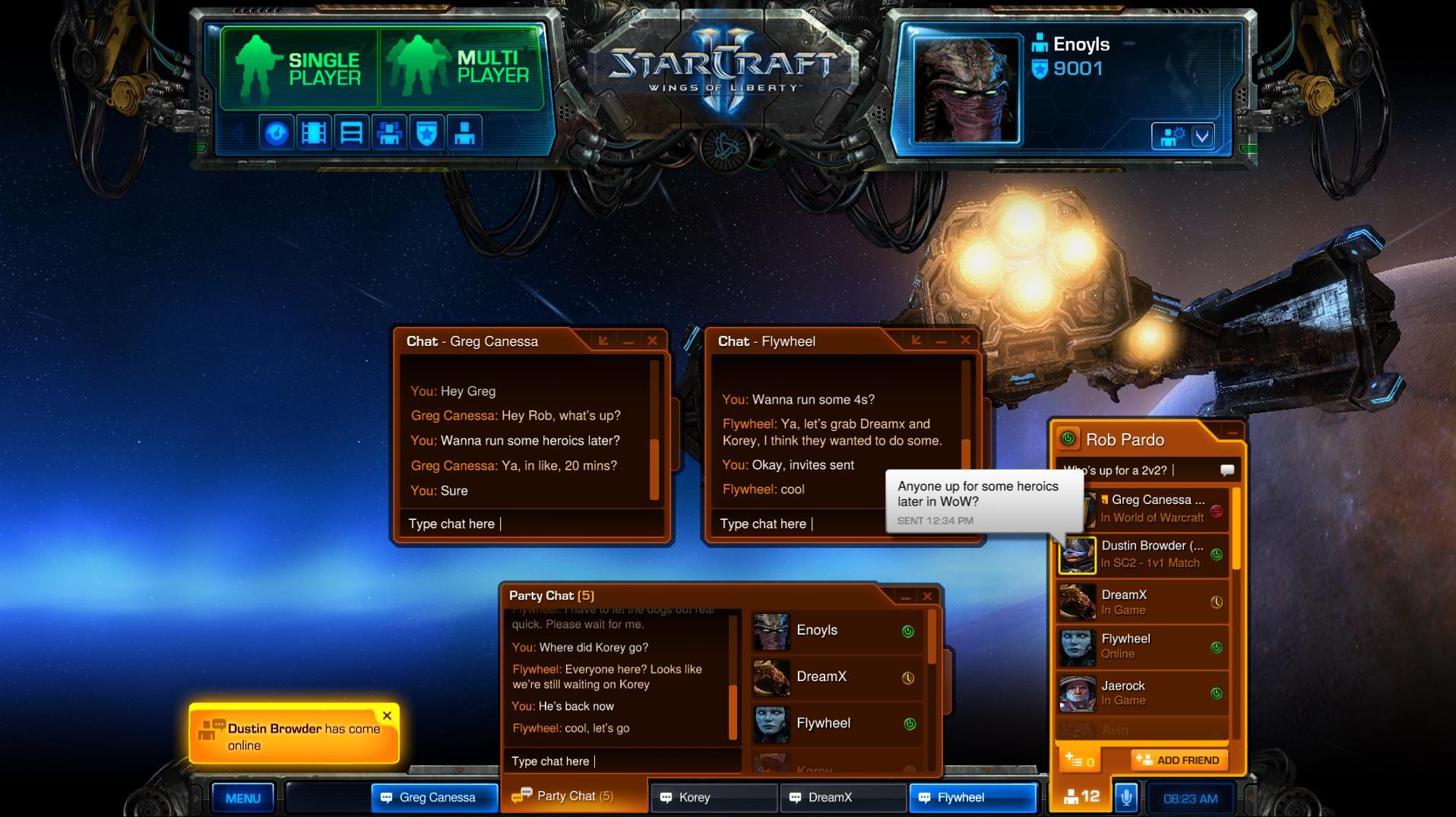 StarCraft 2 Wings of Liberty - скриншот из игры.